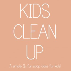 Kids clean up